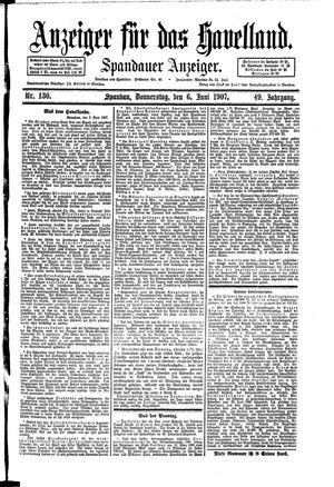 Anzeiger für das Havelland vom 06.06.1907