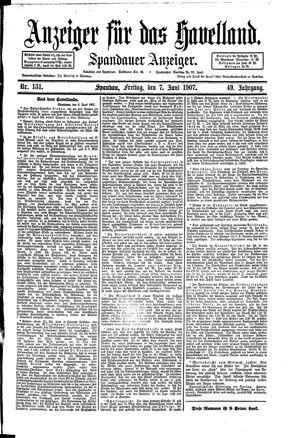 Anzeiger für das Havelland vom 07.06.1907