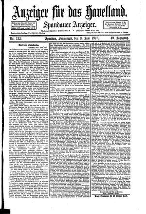 Anzeiger für das Havelland vom 08.06.1907
