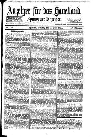 Anzeiger für das Havelland vom 11.06.1907