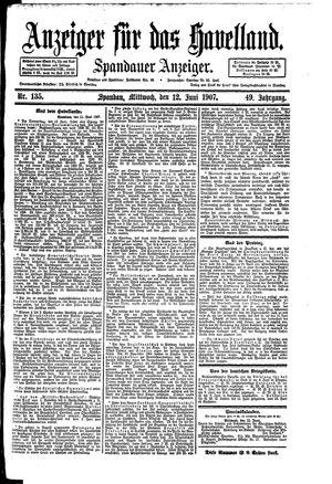 Anzeiger für das Havelland vom 12.06.1907