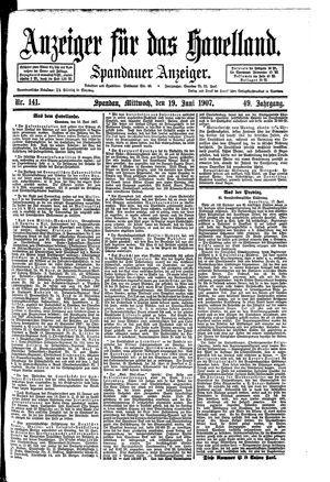 Anzeiger für das Havelland vom 19.06.1907