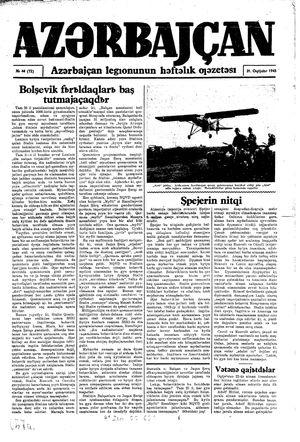 Azärbajçan vom 31.10.1943