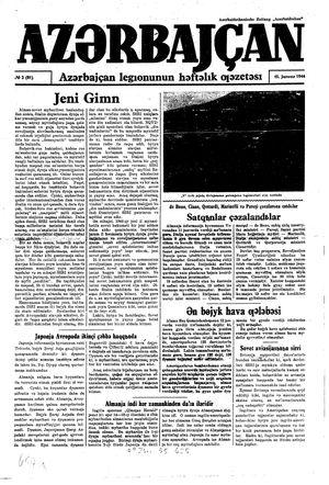 Azärbajçan on Jan 15, 1944