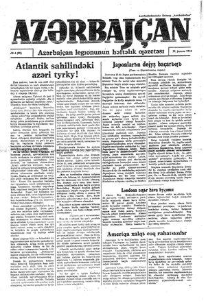 Azärbajçan vom 29.01.1944