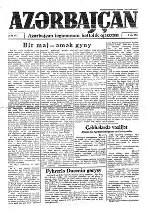 Azärbajçan vom 08.05.1944