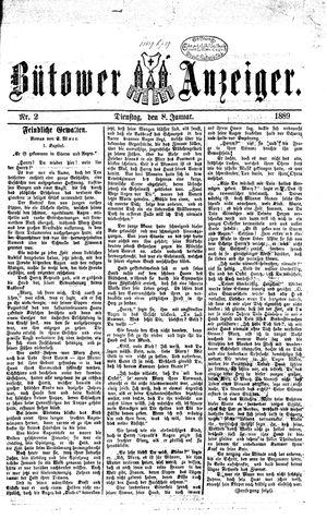 Bütower Anzeiger vom 08.01.1889