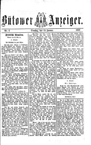 Bütower Anzeiger vom 15.01.1889