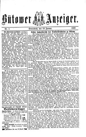 Bütower Anzeiger vom 19.01.1889