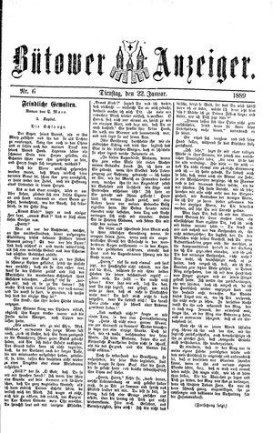 Bütower Anzeiger vom 22.01.1889