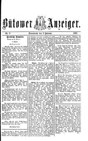 Bütower Anzeiger on Feb 2, 1889