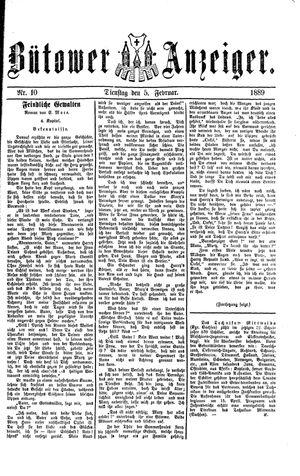 Bütower Anzeiger vom 05.02.1889