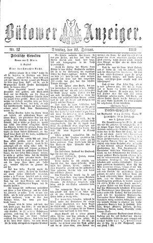 Bütower Anzeiger vom 12.02.1889