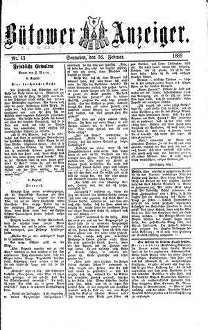 Bütower Anzeiger vom 16.02.1889