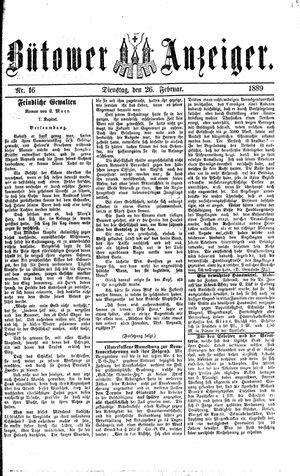 Bütower Anzeiger vom 26.02.1889