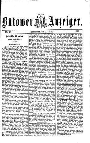 Bütower Anzeiger vom 02.03.1889