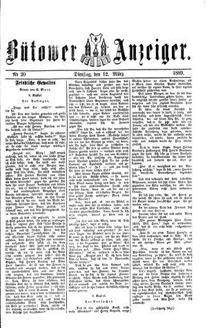 Bütower Anzeiger vom 12.03.1889