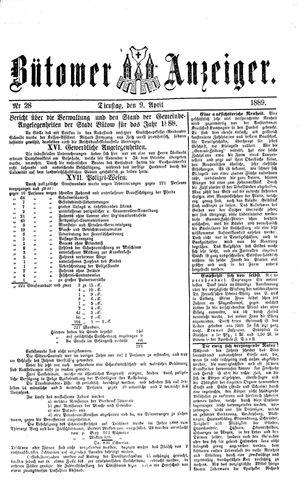 Bütower Anzeiger vom 09.04.1889