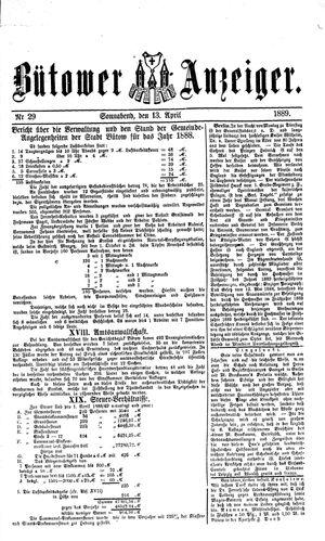 Bütower Anzeiger vom 13.04.1889