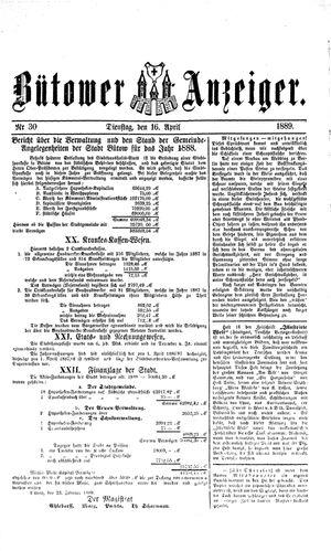 Bütower Anzeiger vom 16.04.1889