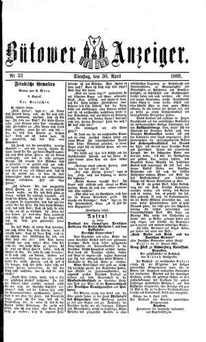 Bütower Anzeiger vom 30.04.1889