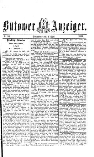 Bütower Anzeiger vom 04.05.1889