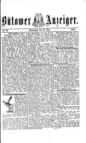 Bütower Anzeiger vom 18.05.1889