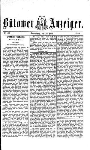 Bütower Anzeiger vom 25.05.1889