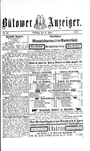 Bütower Anzeiger vom 04.06.1889