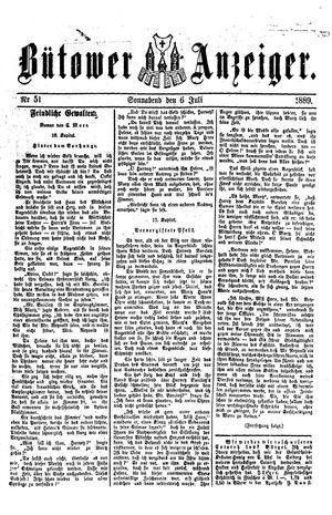 Bütower Anzeiger vom 06.07.1889