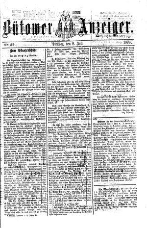 Bütower Anzeiger vom 09.07.1889