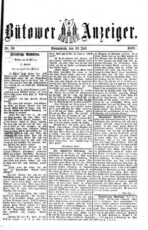 Bütower Anzeiger vom 13.07.1889