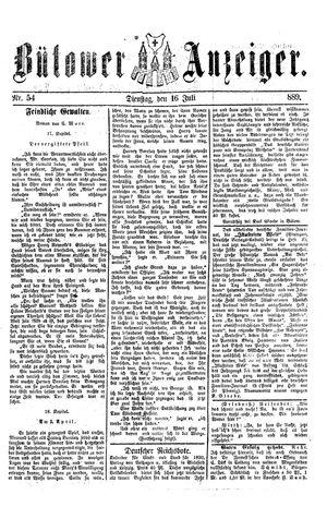 Bütower Anzeiger on Jul 16, 1889