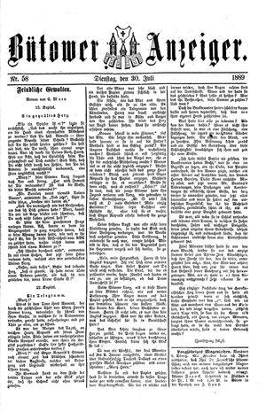 Bütower Anzeiger vom 30.07.1889