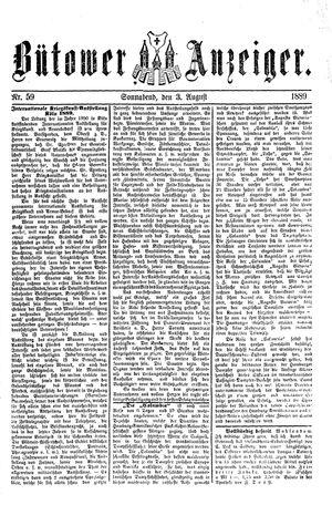Bütower Anzeiger vom 03.08.1889