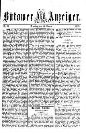 Bütower Anzeiger vom 13.08.1889