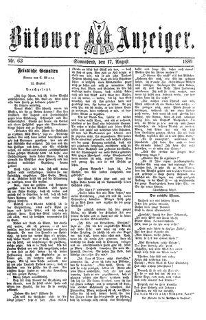 Bütower Anzeiger vom 17.08.1889