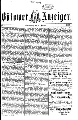 Bütower Anzeiger vom 04.01.1890