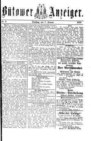 Bütower Anzeiger vom 07.01.1890