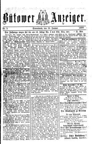 Bütower Anzeiger vom 18.01.1890