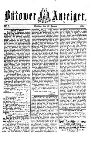 Bütower Anzeiger vom 21.01.1890