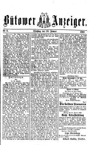 Bütower Anzeiger vom 28.01.1890