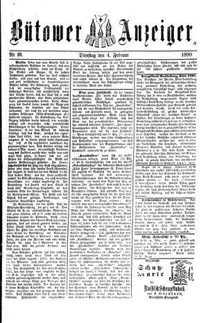 Bütower Anzeiger vom 04.02.1890