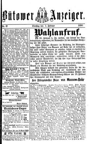 Bütower Anzeiger vom 11.02.1890