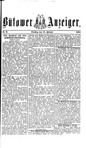 Bütower Anzeiger vom 25.02.1890