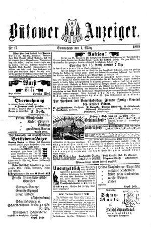 Bütower Anzeiger vom 01.03.1890