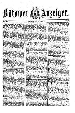 Bütower Anzeiger vom 04.03.1890