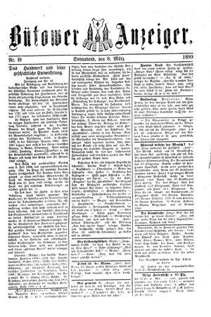 Bütower Anzeiger vom 08.03.1890