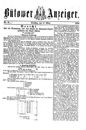 Bütower Anzeiger vom 11.03.1890