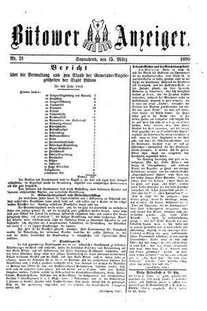 Bütower Anzeiger vom 15.03.1890